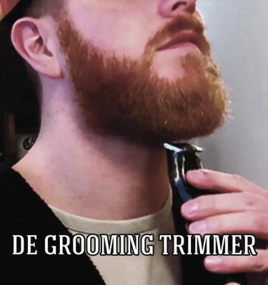 Zelf je baard bij trimmen met een grooming trimmer.